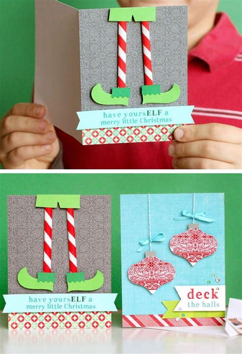 cute holiday cards for kids to make simple enough for a 18 diy christmas card ideas to make this holiday season