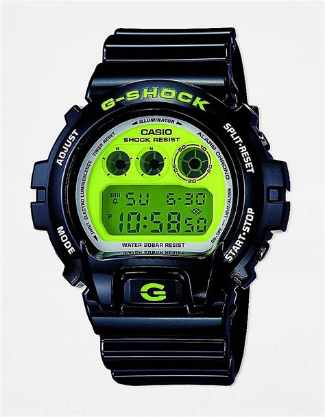 g shock black list green g shock mens black green digital in black for lyst