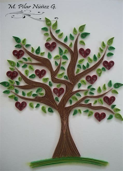 paper quilling tree tutorial 407 best quilling flowers leaves trees etc images on