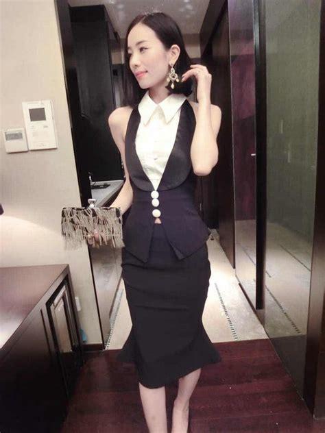Top Sleeveless Panjang Diskon Set Lycra Dress Et343 Black Tamochi