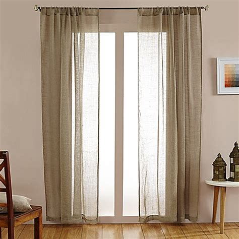 open weave drapes buy open weave linen sheer 84 inch rod pocket window