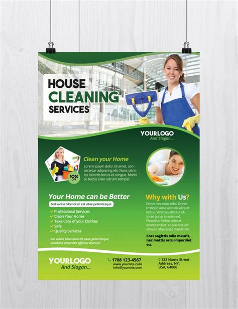 cleaning company flyers template free cleaning services template flyer psd flyershitter
