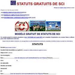 Modele Statut Sci Word Gratuit