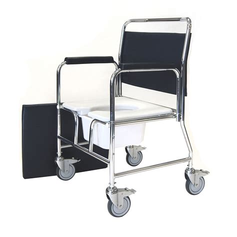 heavy duty bariatric mobile commode chair with castors and