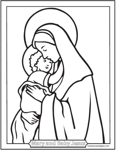 coloring page of baby jesus mary and joseph 15 printable christmas coloring pages jesus mary