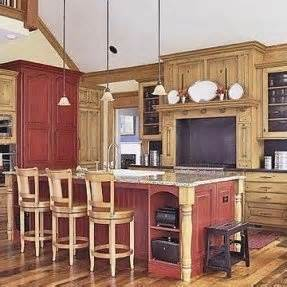 Rustic Painted Kitchen Cabinets by Red Oak Bedroom Furniture Foter