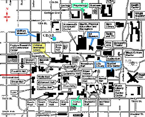iu map indiana cus map bloomington