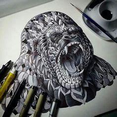 geometric gorilla tattoo 1000 images about tattoos on pinterest geometric animal