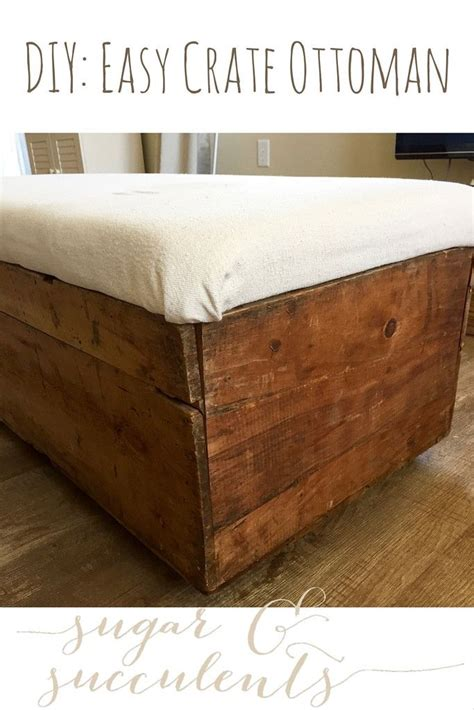 wood crate ottoman 25 best ideas about crate ottoman on pinterest diy