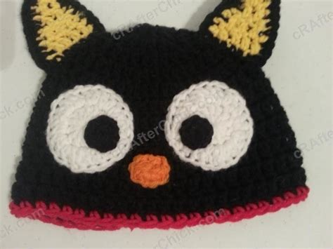 Win Win Crochet Cat Shape Hat chococat the black cat character hat 183 an animal hat 183 yarncraft on cut out keep