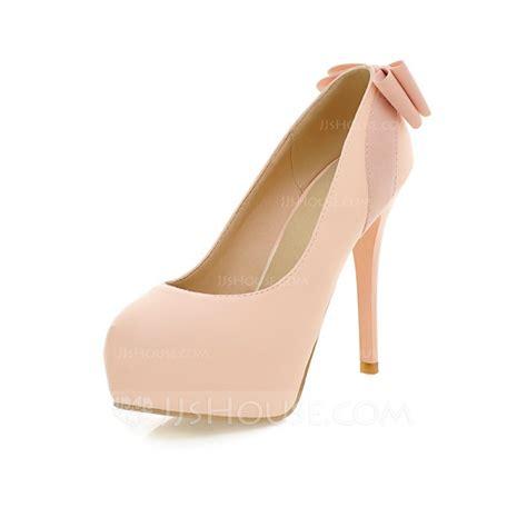 leatherette stiletto heel pumps platform closed toe with