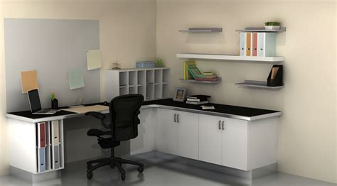 wondrous corner white home office design with single white