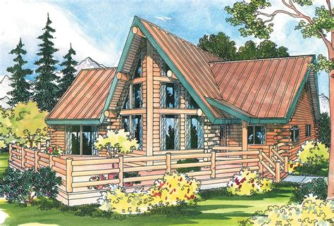 a frame house plans with garage altamont 30 012 a frame house plans log home