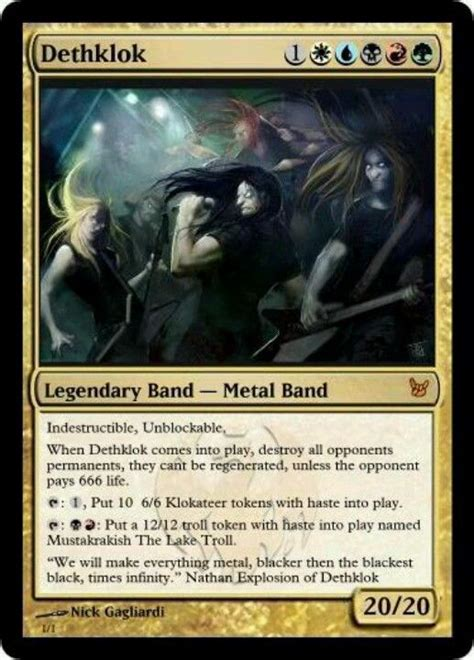 make a magic the gathering card dethklok the gathering the o