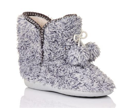 fleece boot slippers womens luxury slippers boots bootees faux fur fleece