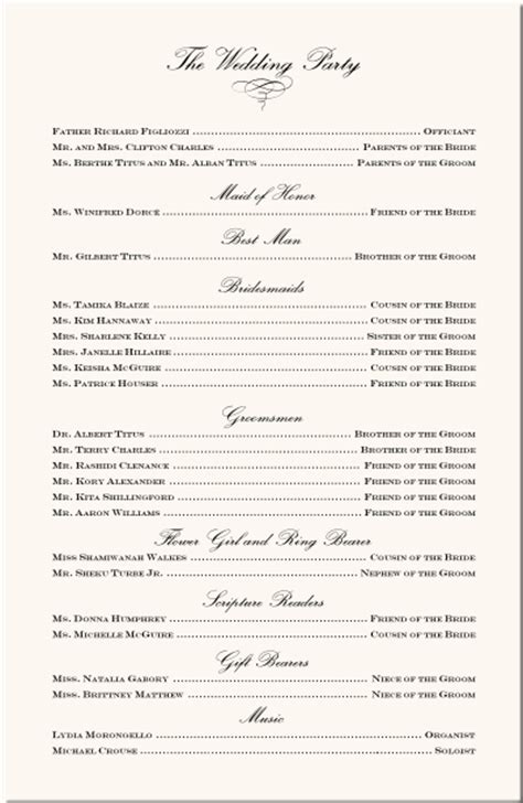 Wedding Ceremony Exles by Order Of Service For A Wedding Ceremony Template Wedding