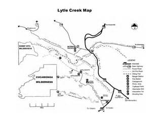 lytle map lytle creek waterfall