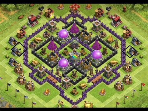 th8 layout new update th8 farming base 4th mortar base speed built funneling