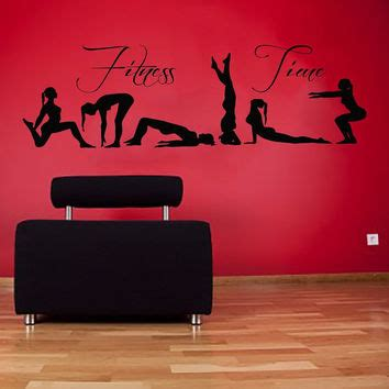 items similar to vinyl decals girl making exercise home best interior design home gym products on wanelo
