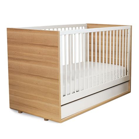 White Wooden Cribs by P Kolino Luce Convertible Crib In Wood White
