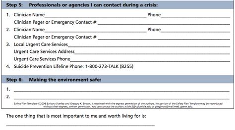 safety plan suicidal ideation template safety plan template cyberuse