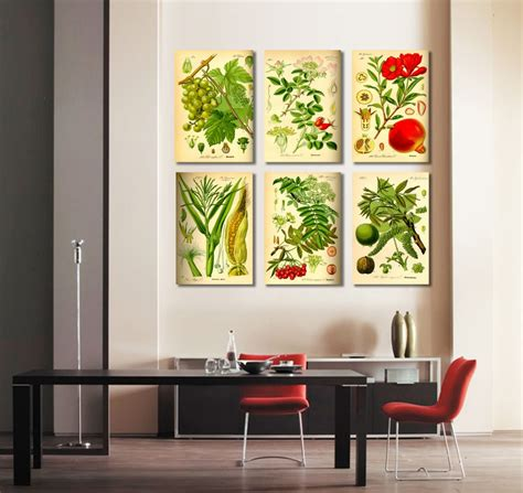 canvas wall art for dining room takuice com 6 pieces combinated canvas wall art modern fruits