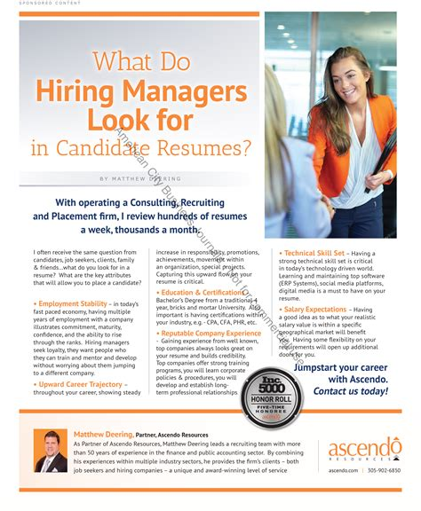what do hiring managers look for in candidate resumes