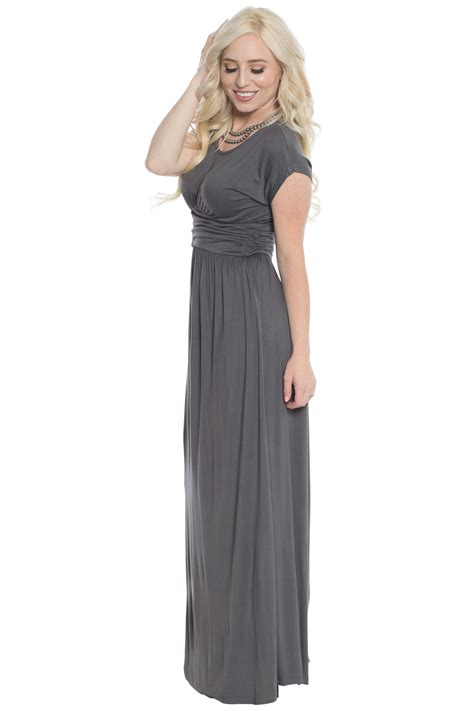 Modest Maxi Dresses by Quot Athena Quot Modest Maxi Dress Or Bridesmaid Dress W Ruched