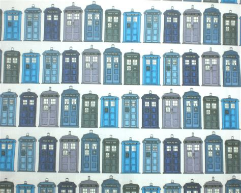 Dr Who Quilt Fabric by Doctor Who Fabric Quarter Tardis History By