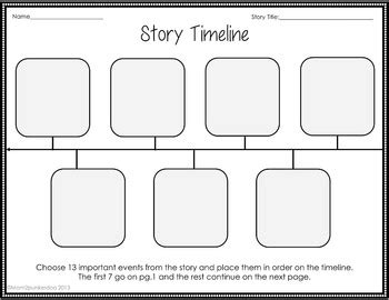 Sequencing Timeline Template For Any Book By Mom2punkerdoo Tpt Plot Timeline Template