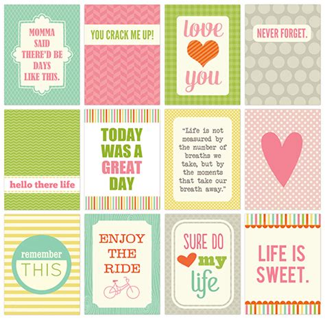 printable quotes for project life freebies