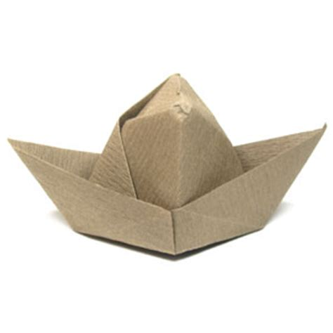 Folded Paper Hat - how to make a traditional cowboy origami hat page 1