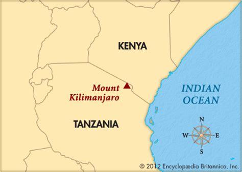 africa map mount kilimanjaro kilimanjaro mount encyclopedia children s