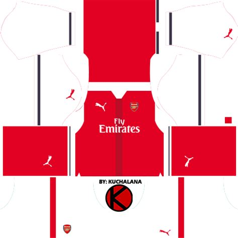 arsenal dls kit dream league soccer arsenal logo kits 2017 18 kits