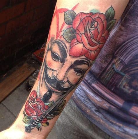 rose tattoo comics v for vendetta vforvendetta neotraditional