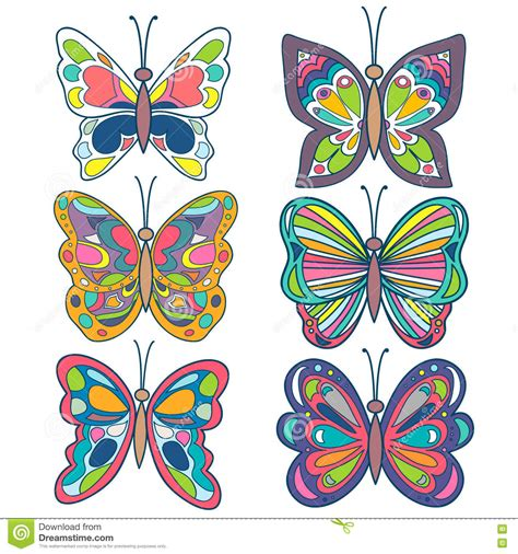 Butterfly Set butterfly set colorful beautiful butterfly collection