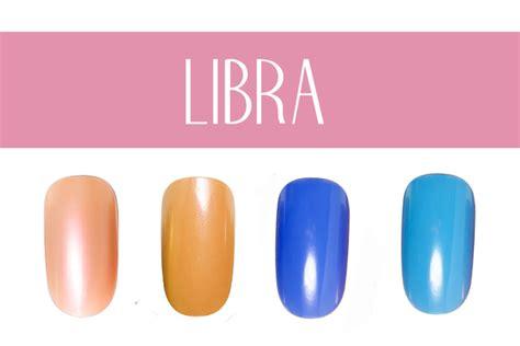 libra colors nail color by zodiac sign