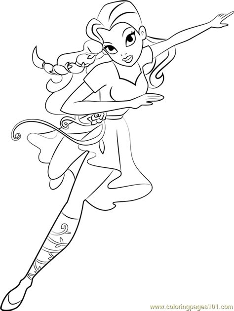 princess ivy coloring pages poison ivy coloring page free dc super hero girls