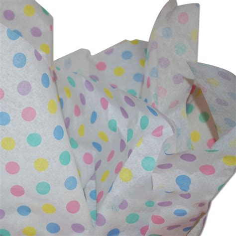 pastel patterned paper uk pastel dots tissue paper