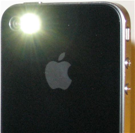 turn your iphone 4 led flash into a flashlight