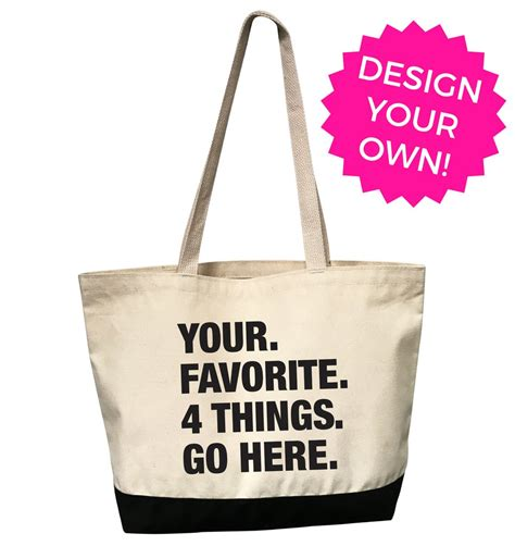 personalized tote bag custom pre order