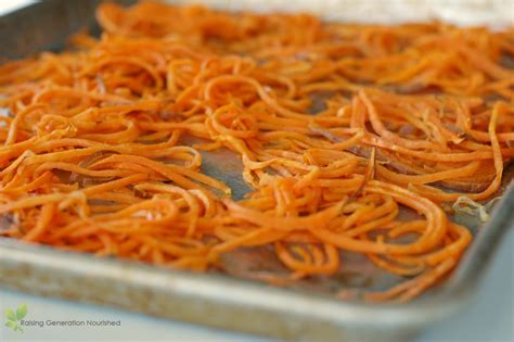 the best way to spirilize cook sweet potatoes raising