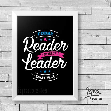 jual poster bingkai motivasi reader leader hiasan