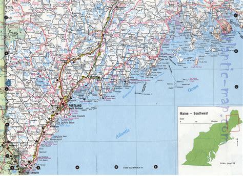 road map maine usa southwest maine map