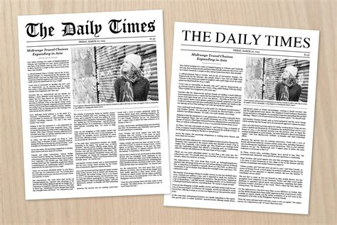 template of newspaper article newspaper article template stationery templates creative market