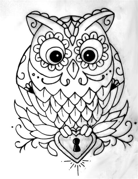 owl outline by jsgraphix on deviantart