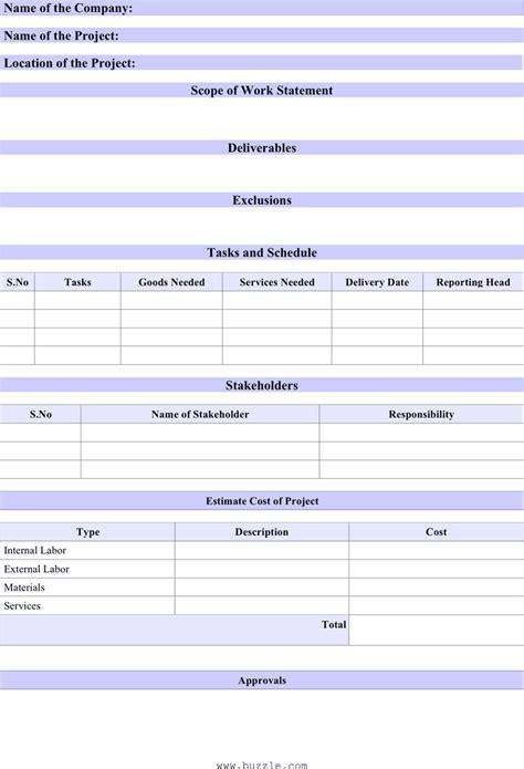 scope of work statement for free tidyform