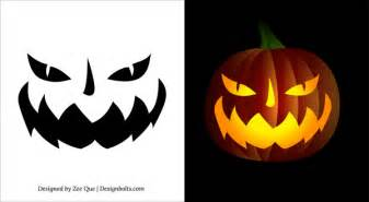 Free printable scary halloween pumpkin face carving stencils patterns