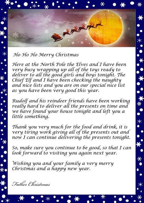 letter  santa father christmas template