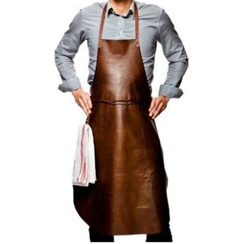 Chef Aprons With Leather High Class Cooking Smocks Reindeer Leather Apron